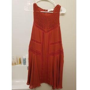 A.L.C. Dresses - A.L.C Elin Crochet Silk Dress Chili Red